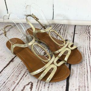 Unisa Gold Summer Sandals 7.5